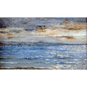 Giovanni Battista Castagneto, Marinha, Óleo sobre madeira, 10 alt X 11 larg (cm), acie