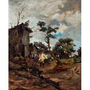 Durval Pereira, Quintal, Óleo sobre tela, 60 alt X 46 larg (cm), acie