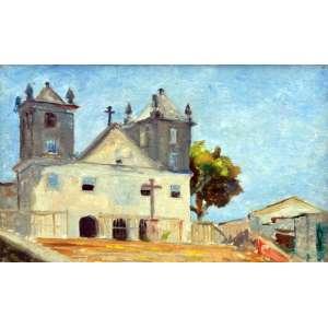 Antonio Gomide, Igreja, Óleo sobre madeira, 24 alt X 33 larg (cm), acid e verso