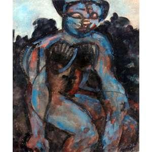 Babinsky, Figura Feminina, Técnica mista sobre papel, 30 alt X 23 larg (cm), acid, Ano: 1977