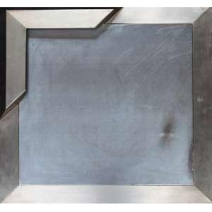 Haroldo Barroso, Variações sobre uma dobra, Emborrachado s/ madeira e aço, 55 alt X 55 larg (cm), ass. no verso, Ano: 1974