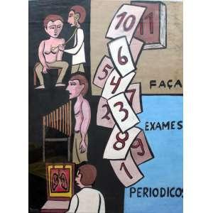 Raimundo Oliveira, Faça exames, Técnica mista sobre papel, 75 alt X 55 larg (cm), acie