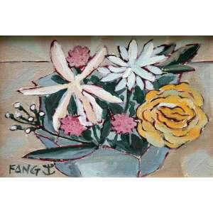 Fang, Vaso de Flores, Óleo sobre placa, 18 alt X 24 larg (cm), acie