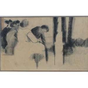 Rubens Gerchman, Figuras, Técnica mista sobre papel, 16 alt X 24 larg (cm), acid, Ano: 58/60