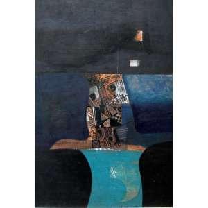 Fernando Odriozola, Composição, Óleo sobre madeira, 79 alt X 53 larg (cm), acid, Ano: 1970