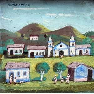 Fúlvio Pennacchi, Vila, Óleo sobre placa, 10 alt X 10 larg (cm), acse, Ano: 1978