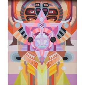 Chamarelli, Composição Colorida, Acrílica sobre tela, 59 alt X 46 larg (cm), acid
