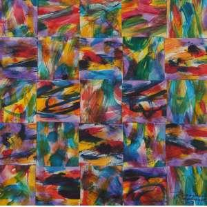 Inacio Rodrigues, Composição, Técnica mista sobre papel, 29 alt X 29 larg (cm), acid, Ano: 2009