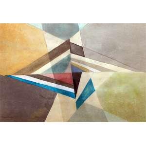 Norberto Nicola, Geometrico, Técnica mista sobre papel, 35 alt X 50 larg (cm), acie -Histórico: (Com selo da galeria Ronie Mesquita no Verso.)