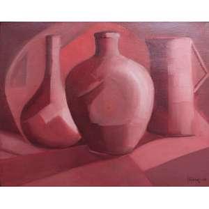 Mario Silésio, Composição, Óleo sobre tela, 38 alt X 46 larg (cm), acid, Ano: 1960 -Histórico: Acompanha certificado emitido pelo filho do artista.