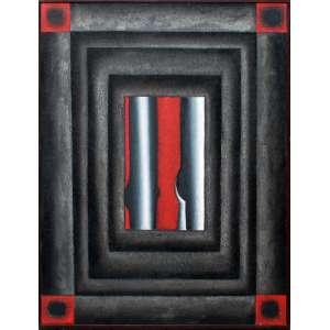 Antonio H. Amaral, Anima e Mania - O afastamento, Óleo sobre tela, 121 alt X 90 larg (cm), ass. no verso, Ano: 1996 - -Histórico: Com selo do atelier do Artista...