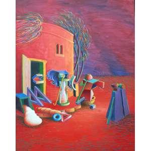 Antônio Peticov, Job, Acrílica sobre tela, 162 alt X 123 larg (cm), ass. no verso, Ano: 1993