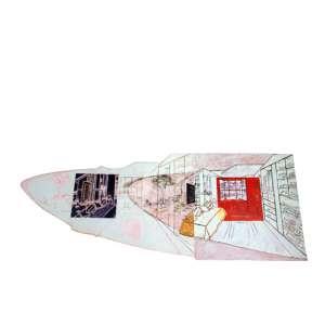 Luiz Paulo Baravelli, Integração Interna e Externa, Acrílica sobre placa, 67 alt X 176 larg (cm), ass. no verso, Ano: 2001
