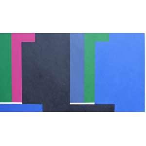Eduardo Sued, Geometrico, Acrílica sobre tela, 90 alt X 215 larg (cm), ass. no verso, Ano: 2001