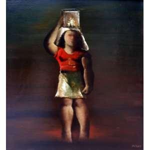 Orlando Teruz, Figura Feminina, Óleo sobre tela, 64 alt X 51 larg (cm), acid e verso, Ano: 1968