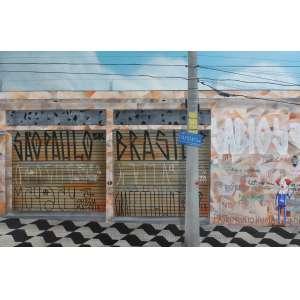 Sergio Free, São Paulo Brasil, Óleo sobre tela, 80 alt X 121 larg (cm), ass. no verso, Ano: 2017