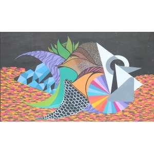 Gen Duarte, Projeto para Mural, Técnica mista sobre papel, 30 alt X 44 larg (cm)