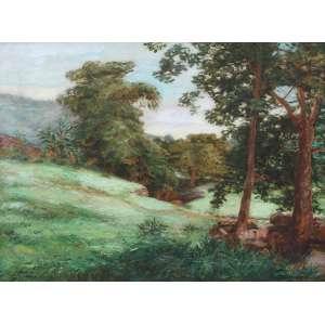 Jorge de Mendonça, Paisagem, Óleo sobre tela, 60 alt X 74 larg (cm), acid
