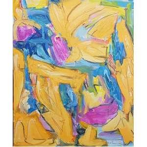 Marcus Jacobina, Encontro, Técnica mista sobre tela, 120 alt X 100 larg (cm), acid e verso, Ano: 2019
