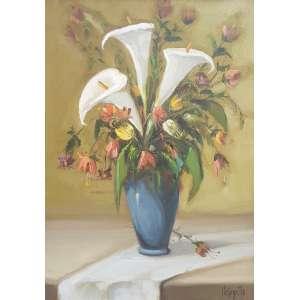 Omar Pellegatta, Vaso de Flores, Óleo sobre tela, 70 alt X 50 larg (cm), acid