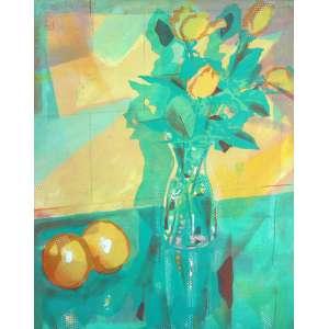 Newton Mesquita, Vaso de Flores, Óleo sobre tela, 80 alt X 60 larg (cm), acid, Ano: 1986
