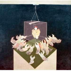 Fernando Coelho, Que se Passou Contigo, Óleo sobre tela, 65 alt X 65 larg (cm), acie e verso, Ano: 1978