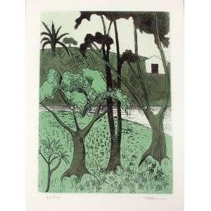 Francisco Rebolo, Paisagem, Litografia, 42 alt X 30 larg (cm), acid, 48/70