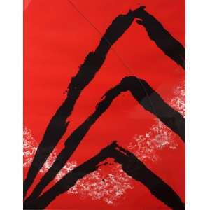Tomie Ohtake, Composição Vermelha, Serigrafia, 100 alt X 70 larg (cm), acid, H/C