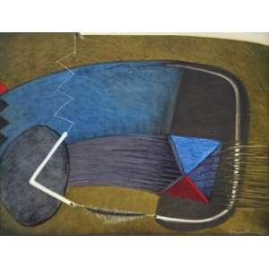 Dina Oliveira, Círculos Naturais, Óleo sobre tela, 50 alt X 60 larg (cm), acid e verso, Ano: 1986