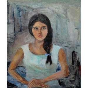 Wega Nery, Figura Feminina, Óleo sobre tela, 80 alt X 64 larg (cm), acid e verso, Ano: 1964