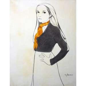 Gustavo Rosa, Figura Feminina, Óleo sobre tela, 120 alt X 90 larg (cm), acid, Ano: 1971