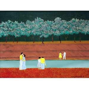 Manezinho Araujo, Composição, Óleo sobre tela, 53 alt X 44 larg (cm), acid e verso 1978