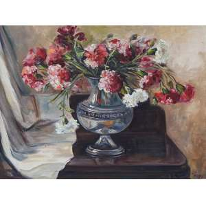 Wega Nery, Vaso de Flores, Óleo sobre tela, 46 alt X 54 larg (cm), acid