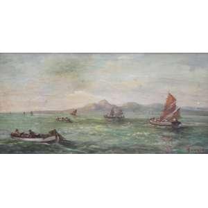 Vincenzo Cencin, Marinha, Óleo sobre tela, 31 alt X 50 larg (cm), acid