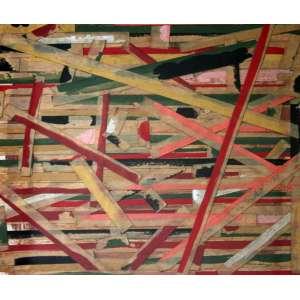 Niobe Xandó, Composição I, Colagem sobre papel, 18 alt X 20 larg (cm), acid, Ano: 1980