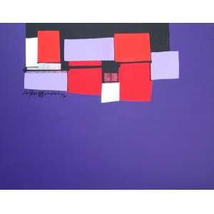 Silvio Oppenheim, Composição, Óleo sobre tela, 60 alt X 80 larg (cm), acie e verso, Ano: 2010 - Histórico: Com Dedicatória do Artista no Verso