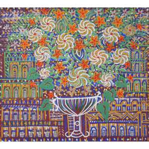 Fernando Lucchesi, Flores para Guignard, Óleo sobre tela, 70 alt X 70 larg (cm), acid e verso