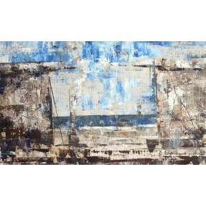 José Paulo Moreira da Fonseca, Azul, Óleo sobre eucatex, 20 alt X 33 larg (cm), acid -Histórico: ( Obra com selo da galeria Mauricio Pontual)