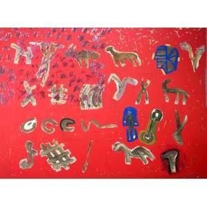 Siron Franco, Rupestre Brasileiro, Óleo sobre tela, 158 alt X 200 larg (cm), ass. no verso, Ano: 1990