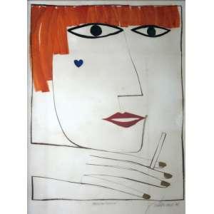 Gustavo Rosa, Mademoiselle, Mista sobre Papel, 48 alt X 34 larg (cm), acid, Ano: 1978