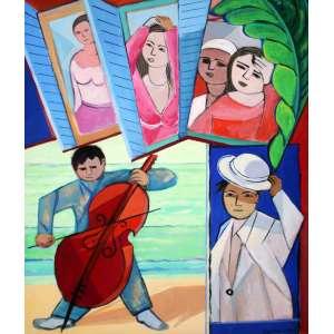 Cícero Dias, Serenata, Óleo sobre tela, 81 alt X 65 larg (cm), acid -Histórico: Obra Reproduzida na CAPA do Catálago e Exposição do artista na galeria Mauricio Pontual (Dezembro de 1986)