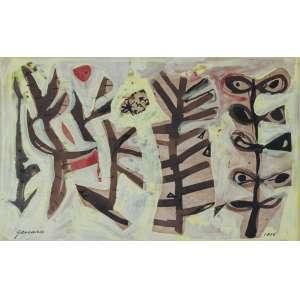 Genaro de Carvalho, Sem Título, Técnica mista sobre papel, 27 alt X 37 larg (cm), acie, Ano: 1956