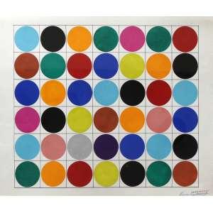 Gregório Vardanega, Composição, Guache sobre cartão, 40 alt X 50 larg (cm), acid, Ano: 1962 -Histórico: Com certificado do Projeto e reproduzido no catálogo da Bolsa de Arte