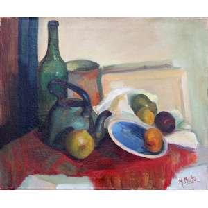 Martha Boto, Composição, Óleo sobre tela, 50 alt X 61 larg (cm), acid