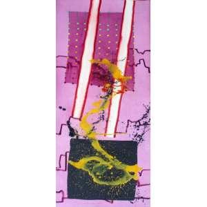 Gilberto Salvador, Composição, Técnica mista sobre papel, 150 alt X 51 larg (cm), acie, Ano: 1985