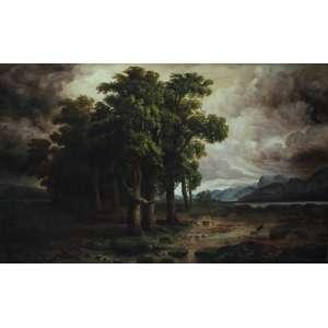 Edmundo Migliaccio, Paisagem, Óleo sobre tela, 80 alt X 120 larg (cm), acid, Ano: 1944
