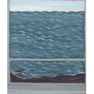 Fang, Janela e Mar, Óleo sobre tela, 50 alt X 40 larg (cm), acie