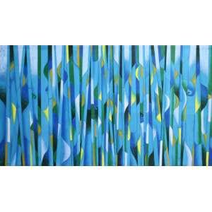 Luiz Carlos Ferracioli, Tropical 11, Acrílica sobre tela, 80 alt X 150 larg (cm), ass. no verso, Ano: 2017