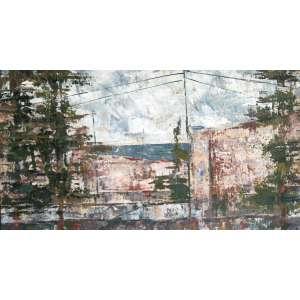 José Paulo Moreira da Fonseca, Casas e Paisagem, Óleo sobre eucatex, 20 alt X 33 larg (cm), acie -Histórico: Obra sem Moldura