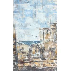 José Paulo Moreira da Fonseca, Uma Cidade, Óleo sobre eucatex, 33 alt X 20 larg (cm), acie -Histórico: Obra sem Moldura